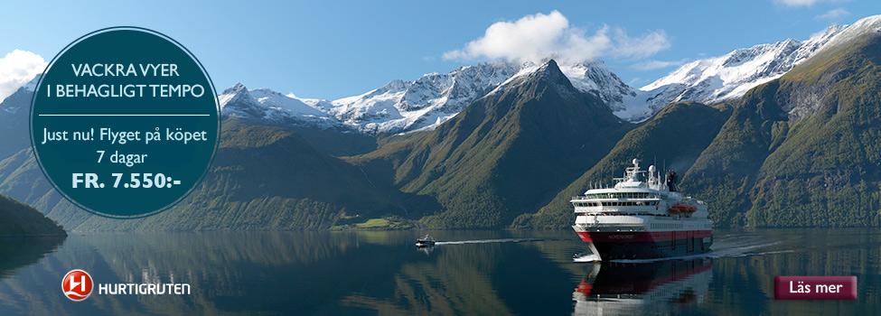 Vackra vyer med Hurtigruten
