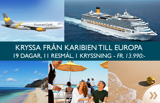 Kryssa från Karibien till Europa