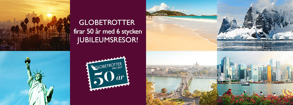 fira 50 år resa Fira med Globetrotter, åk på ditt livs resa! fira 50 år resa